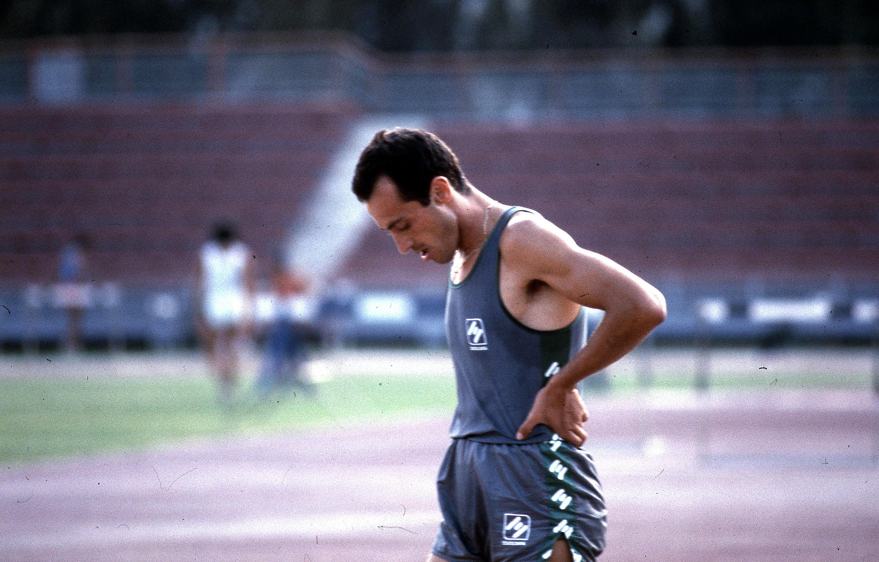 Pietro Mennea si allena a Formia in una foto senza data. ANSA